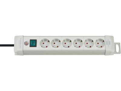 Удлинитель Brennenstuhl Premium-Line с выключателем, 6 розеток; 3 метра, серый, кабель H05VV-F 3G1,5 (1955560100)