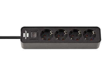 Удлинитель Brennenstuhl Ecolor 4 розетки, 1,5 метра, с выключателем, кабель H05VV-F 3G1,5; черный (1153240000)