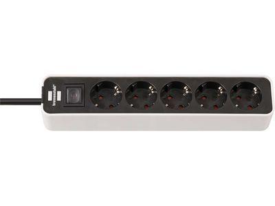 Удлинитель Brennenstuhl Ecolor 5 розеток, 1,5 метра, с выключателем, кабель H05VV-F 3G1,5; белый-черный (1153250020)