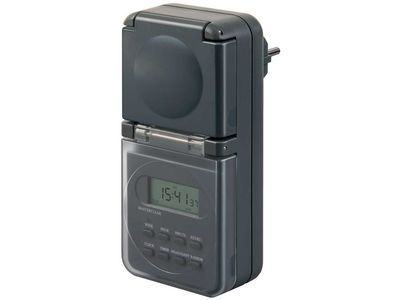Таймер-розетка цифровой недельный Brennenstuhl, черный, IP44 (1506706)