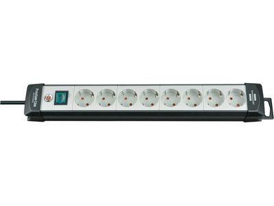Удлинитель Brennenstuhl Premium-Line с выключателем, 8 розеток; 3 метра, черный/серый, кабель H05VV-F 3G1,5 (1951580100)