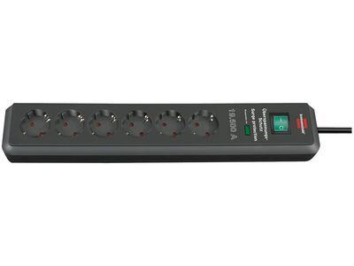 Сетевой фильтр Brennenstuhl Secure-Tec 19500 А, 6 розеток, 2 метра, антрацит, кабель H05VV-F 3G1,5 (1159540366)