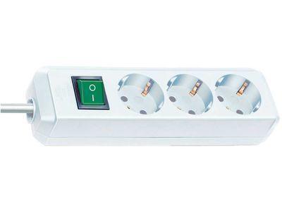 Удлинитель Brennenstuhl Eco-Line 3 розетки; 1,5 м. кабель H05VV-F 3G1,5; белый; с выключателем (1152320015)