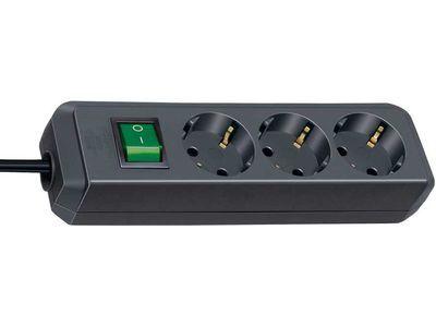 Удлинитель Brennenstuhl Eco-Line 3 розетки; 5 м. кабель H05VV-F 3G1,5; черный; с выключателем (1152900)
