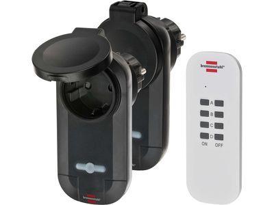 Розетки с управлением от пульта 2 шт. с IP44 Brennenstuhl Comfort-Line RC CE1 0201 (1507030)